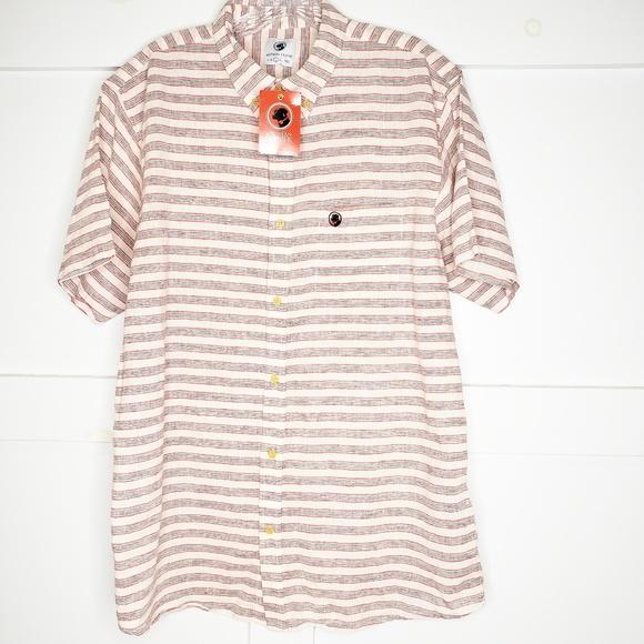 Southern Proper Other - Men's Southern Proper Linen Striped Shirt Large